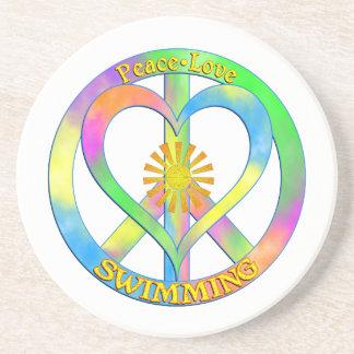 Peace Love Swimming Coaster