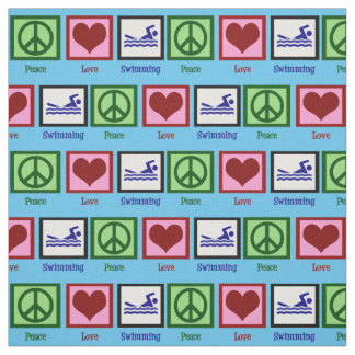 Peace Love Swimming Fabric