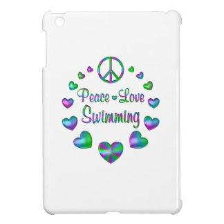Peace Love Swimming iPad Mini Cases