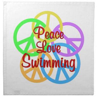 Peace Love Swimming Napkin