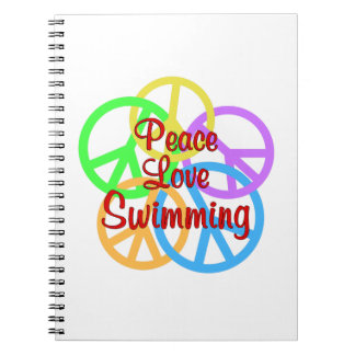 Peace Love Swimming Note Book
