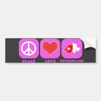 Peace Love Switzerland Bumper Sticker