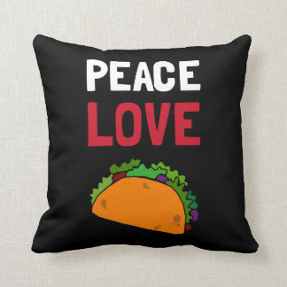 Peace Love Taco Throw Pillow
