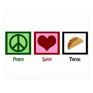 Peace Love Tacos Postcard