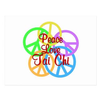 Peace Love Tai Chi Postcard