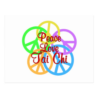 Peace Love Tai Chi Postcard