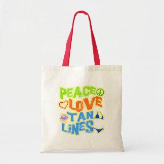 Peace Love Tan Lines Budget Tote Bag