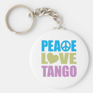 Peace Love Tango Basic Round Button Keychain