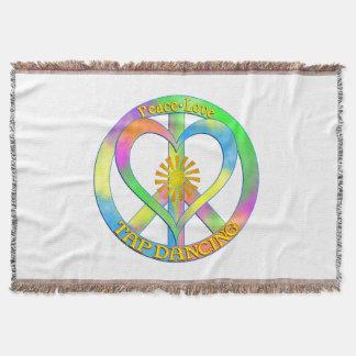 Peace Love Tap Dancing Throw