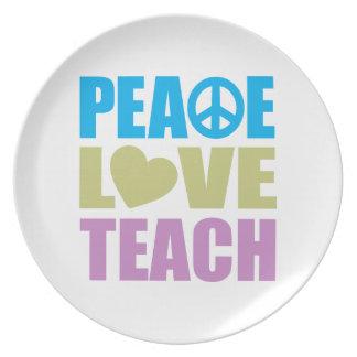 Peace Love Teach Plate