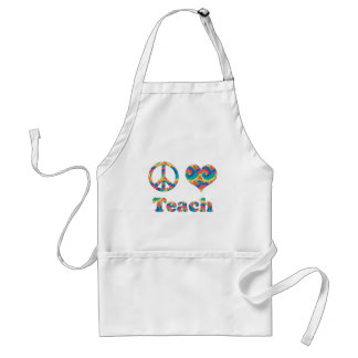 Peace Love Teach Standard Apron