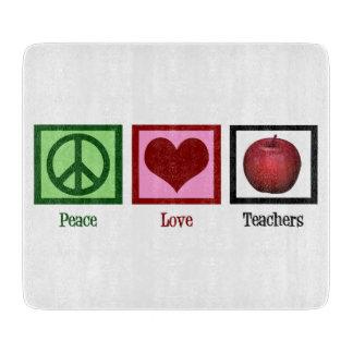 Peace Love Teachers Cutting Board