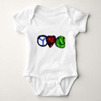 Peace Love Tennis Baby Bodysuit