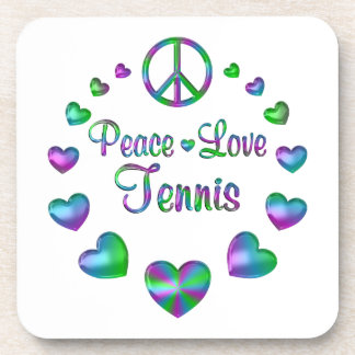 Peace Love Tennis Coaster