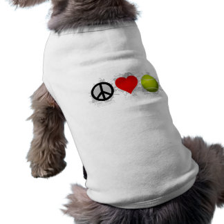 Peace Love Tennis Emblem Dog Tee