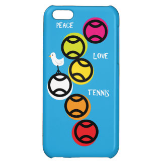 Peace, Love, Tennis iPhone 5c Case in Blue