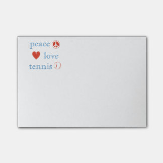 Peace Love Tennis Post-it Notes