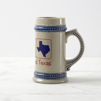 Peace Love Texas Beer Stein