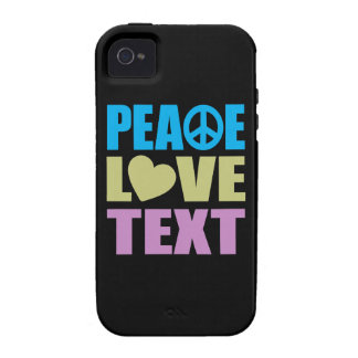 Peace Love Text Vibe iPhone 4 Case