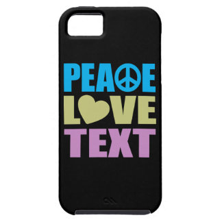 Peace Love Text iPhone 5 Cover