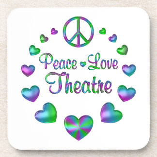Peace Love Theatre Coaster