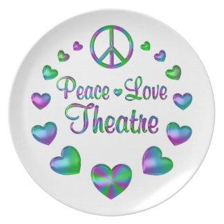 Peace Love Theatre Plate