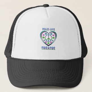 Peace Love Theatre Trucker Hat