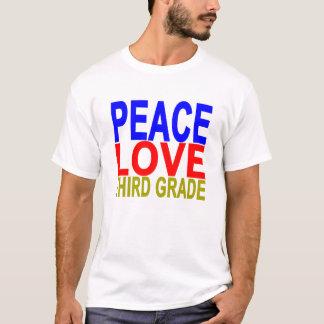 Peace Love Third Grade T-shirt.png T-Shirt