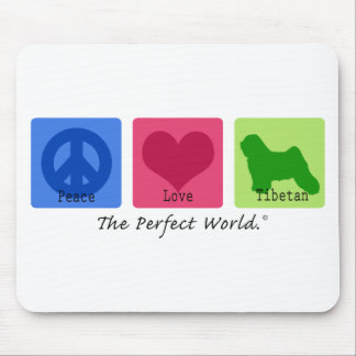 Peace Love Tibetan Mouse Pad