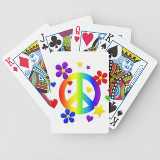 PEACE LOVE TIE DYE HIPPIE SYMBOL POKER DECK
