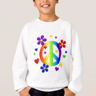 PEACE LOVE TIE DYE HIPPIE SYMBOL SWEATSHIRT