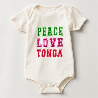 Peace Love Tonga Baby Bodysuit