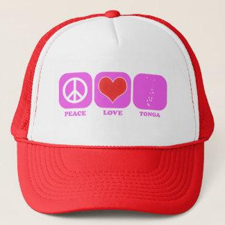 Peace Love Tonga Trucker Hat