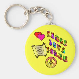 Peace Love Torah Keychain