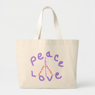 Peace love tranquility respect patience Tote Bag