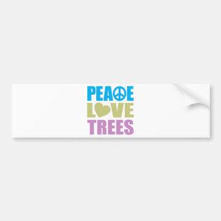 Peace Love Trees Bumper Sticker