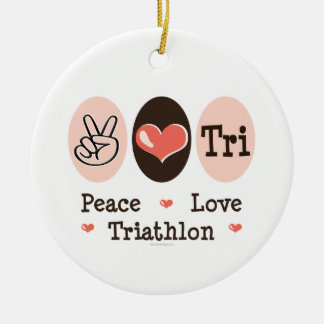 Peace Love Tri Ornament