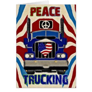 Peace Love Trucking Card
