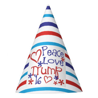 Peace Love Trump for President Party Supplies Party Hat