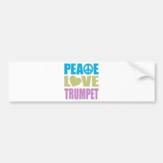 Peace Love Trumpet Bumper Sticker