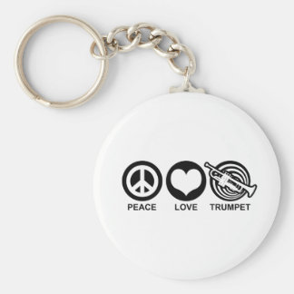 Peace Love Trumpet Keychain