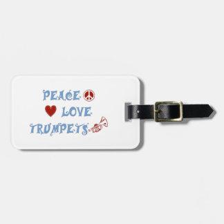 Peace Love Trumpets Luggage Tag