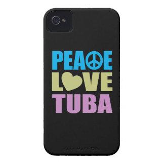 Peace Love Tuba iPhone 4 Cases