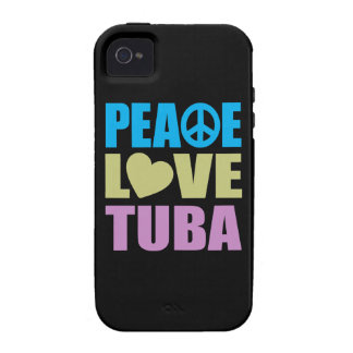 Peace Love Tuba Vibe iPhone 4 Covers