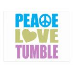 Peace Love Tumble Postcard