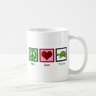 Peace Love Turtles Double Sided Coffee Mug
