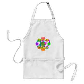 Peace Love Turtles Standard Apron