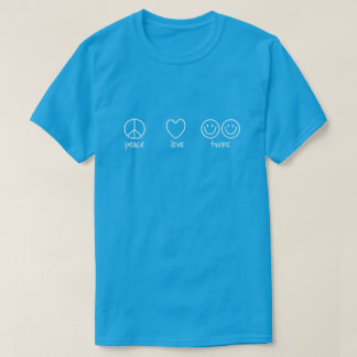 Peace, Love, Twins (Dark) T-Shirt