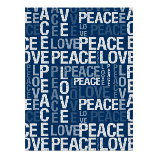Peace Love Typography Poster