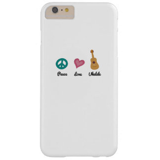 Peace Love Ukelele  Uke Music Lover Funny Gift Barely There iPhone 6 Plus Case